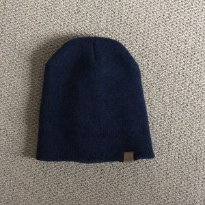 Women's dark blue beanie